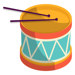 Cute drums illustration