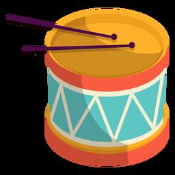Ilustración linda de la batería