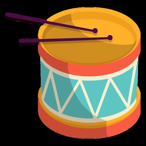 Linda ilustración de tambores