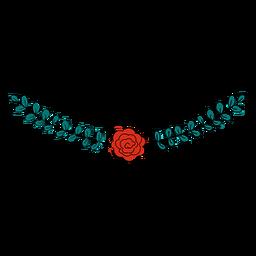 Ornamento floral fofo