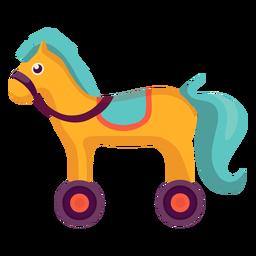 Cavalo bonito com rodas