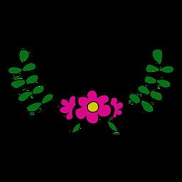 Lindo adorno floral