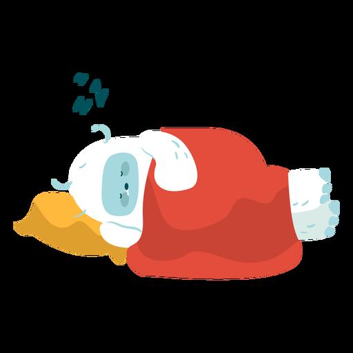 Cute sleeping yeti