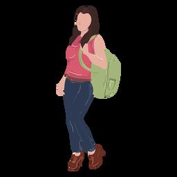 Ilustración linda del estudiante