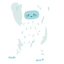 Cute waving yeti