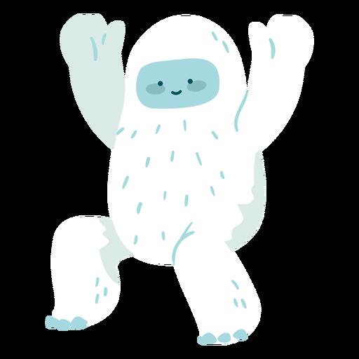Cute waving yeti