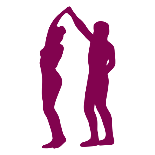 Dance pose duo Transparent PNG