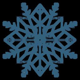 Detailed snowflake symbol