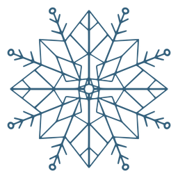 Símbolo detallado de copo de nieve