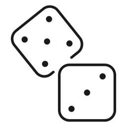 Dice toy icon