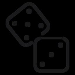 Icono de juguete de dados