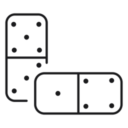 Domino toy icon