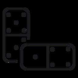 Icono de juguete dominó
