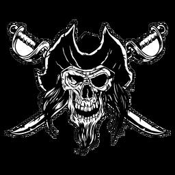 Dibujado calavera pirata