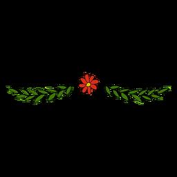 Blumenverzierung niedlich