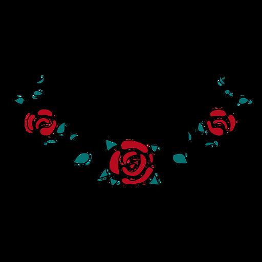 Floral ornament simple Transparent PNG