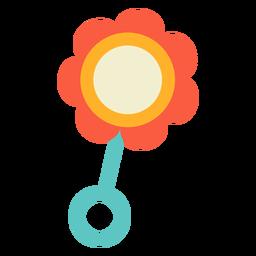 Sonajero flor plano