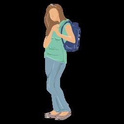 Ilustración de niña estudiante