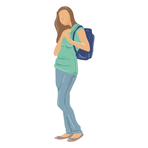 Girl student illustration Transparent PNG