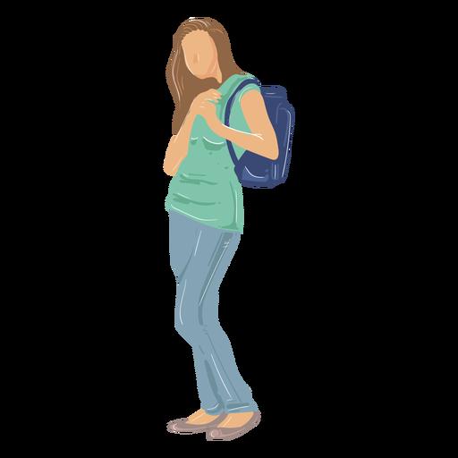 Girl student illustration