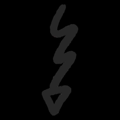 Goong down arrow vector Transparent PNG