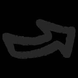 Graffiti flecha derecha