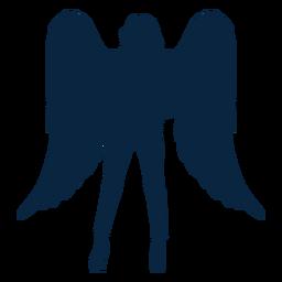 Mão no vetor de anjo de cintura