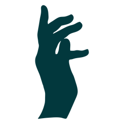 Hand facing right vector