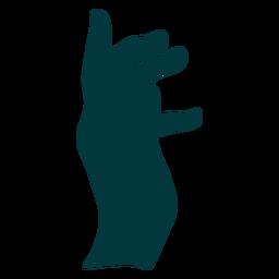 Vector derecho hacia mano
