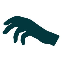 Hand palm down vector