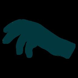 Vector de palma de la mano hacia abajo