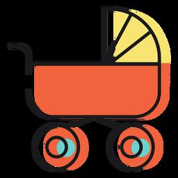Carrinho de bebê de ícone
