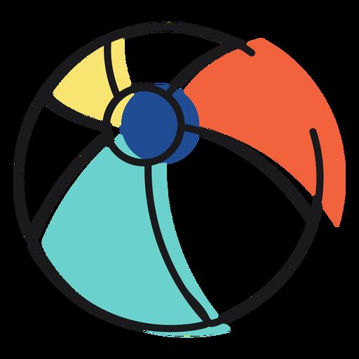 Pelota de playa icono Transparent PNG
