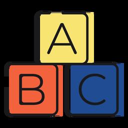 Blocos de letras de ícones