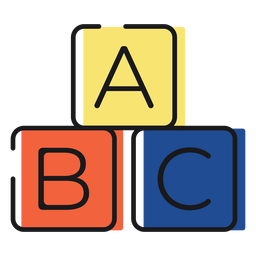 Icon letter blocks