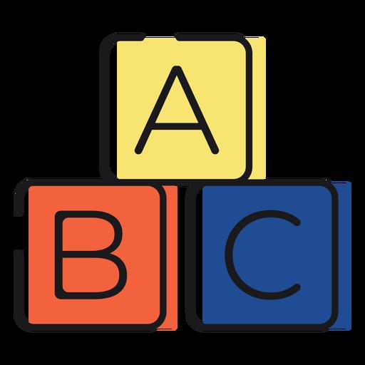 Icon letter blocks