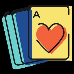 Cartas de jogar de ícones