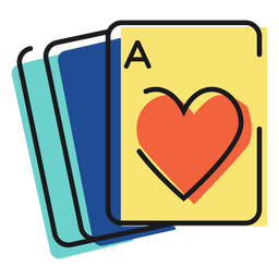 Icono jugando a las cartas