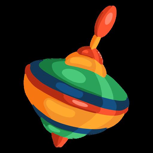 Illustration spinning top