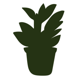 Indoor plant silhouette