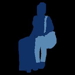 Lady tourist silhouette