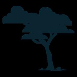 Árbol frondoso de safari