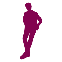 Leaning man silhouette