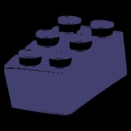 Lego block vector