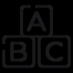 Ícone de blocos de letras