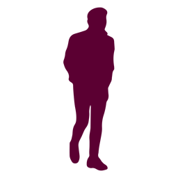 Man hands in pockets silhouette