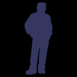 Man pose silhouette