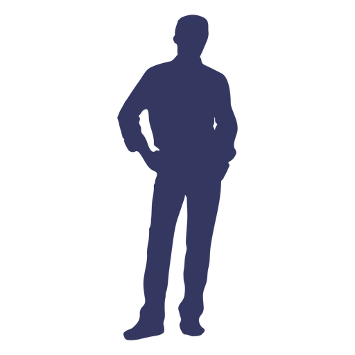 Man pose silhouette Transparent PNG