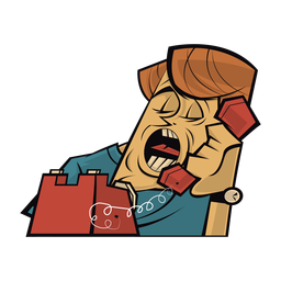 Homem falando ao telefone