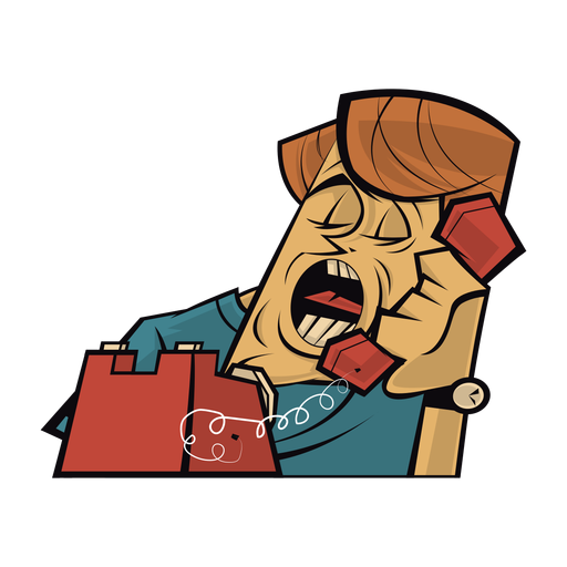Man talking on the telephone Transparent PNG